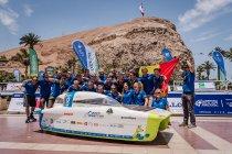 Belgische zonnewagen schrijft geschiedenis en pakt allereerste goud in Carrera Solar Atacama!