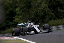 Hamilton wint met strategie van Verstappen