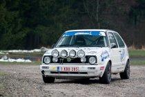 Legend Boucles: Daffe-Jeanquart met een VW Golf in de kleuren van de Belgian VW Classics Club