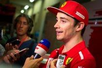 Leclerc emotioneel na eerste dag bij Ferrari