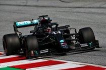 Drie op drie voor Hamilton en Mercedes, Red Bull sluipt dichterbij
