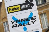 Ypres Rally decor voor tweede manche Prestone MSA British Prestone Championship