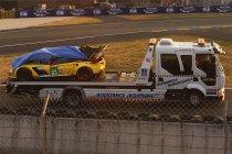Corvette #63 tot opgave gedwongen na crash tijdens de kwalificatie