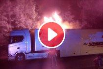 Video: Zolder: Vrachtwagen van Team Rosberg vat vuur